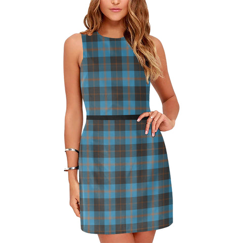 Angus Ancient Tartan Sleeveless Dress H01