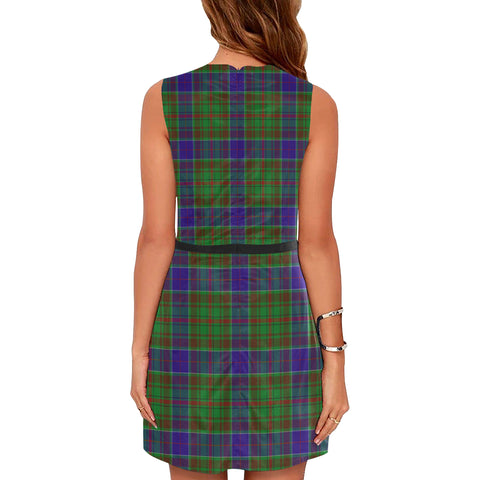 Image of Adam Tartan Sleeveless Dress H01