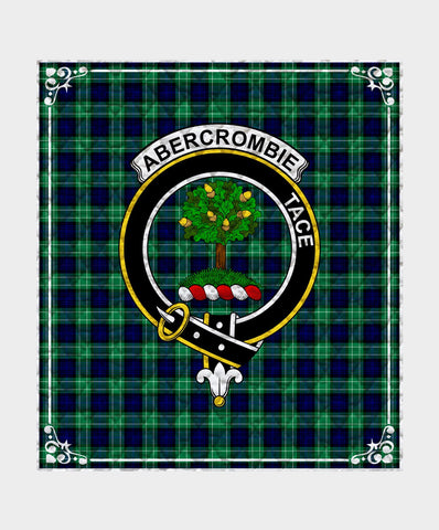 Image of Abercrombie Clan Badge Tartan Blanket