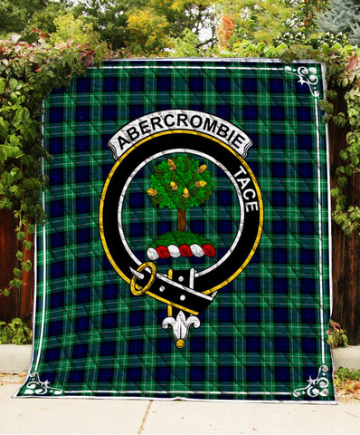 Abercrombie Clan Badge Tartan Blanket