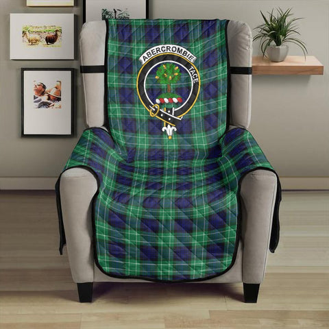 Image of Abercrombie Clan Badge Tartan Sofa Protector