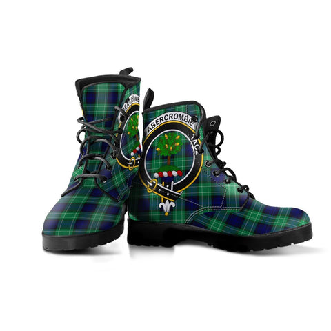 Abercrombie Clan Badge Tartan Leather Boots