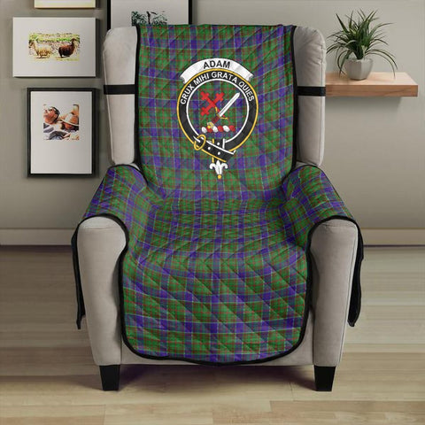 Image of Adam Clan Badge Tartan Sofa Protector