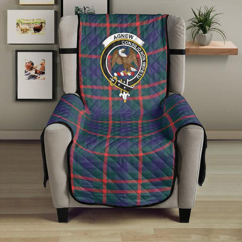 Image of Agnew Modern Clan Badge Tartan Sofa Protector