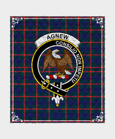 Image of Agnew  Clan Badge Tartan Blanket