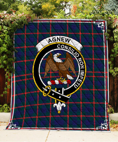 Agnew  Clan Badge Tartan Blanket