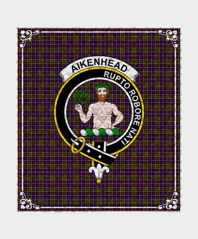 Image of Aikenhead Clan Badge Tartan Blanket