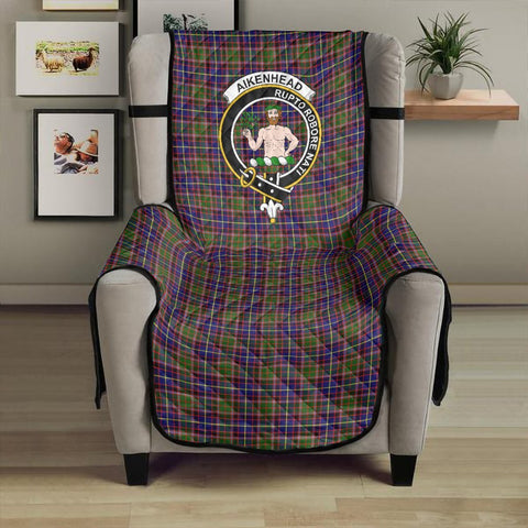 Image of Aikenhead Clan Badge Tartan Sofa Protector