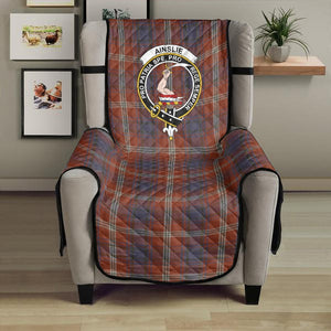 Ainslie Clan Badge Tartan Sofa Protector