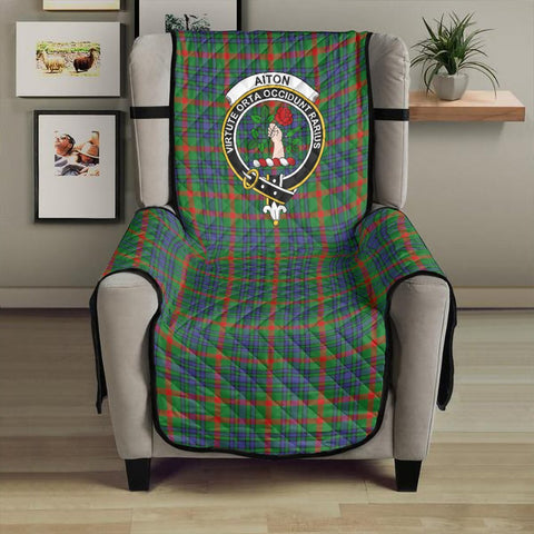 Image of Aiton Clan Badge Tartan Sofa Protector