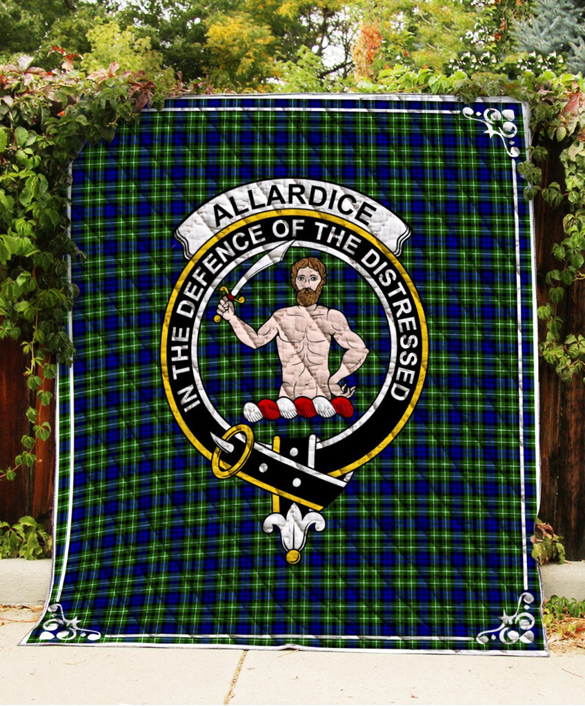Allardice Clan Badge Tartan Blanket