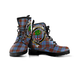 Anderson Clan Badge Tartan Leather Boots