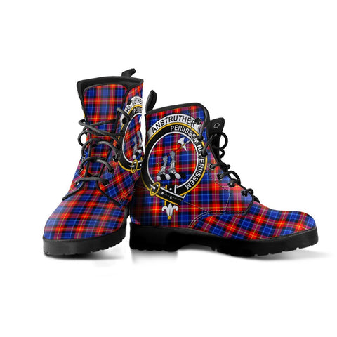 Anstruther Clan Badge Tartan Leather Boots