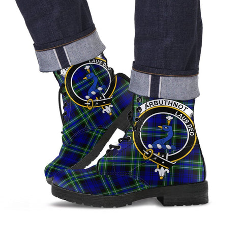 Arbuthnot Clan Badge Tartan Leather Boots