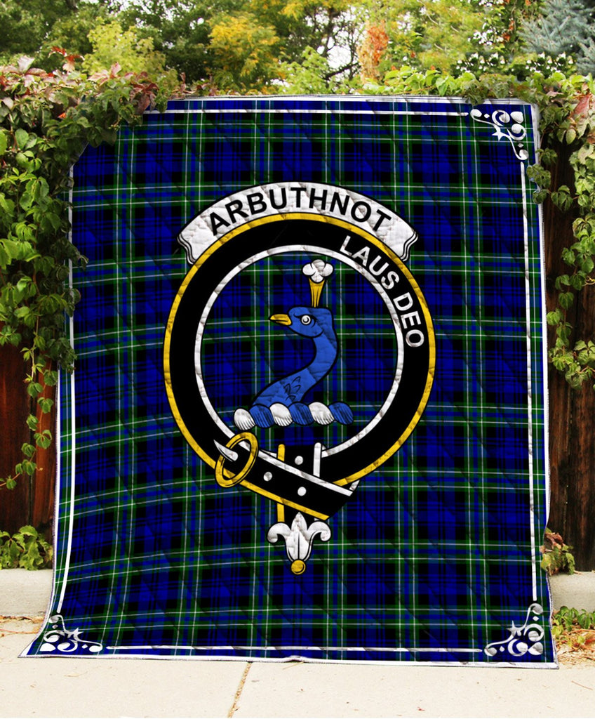 Arbuthnot  Clan Badge Tartan Blanket