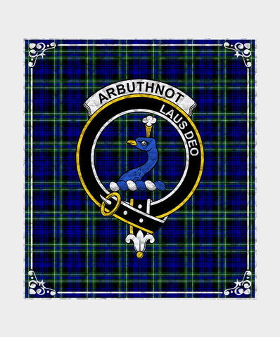 Image of Arbuthnot  Clan Badge Tartan Blanket