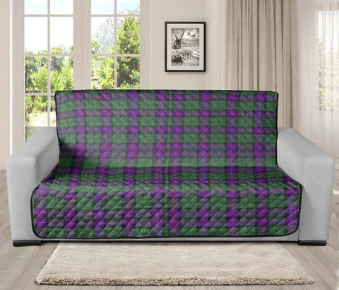 Image of Armstrong Modern Clan Badge Tartan Sofa Protector
