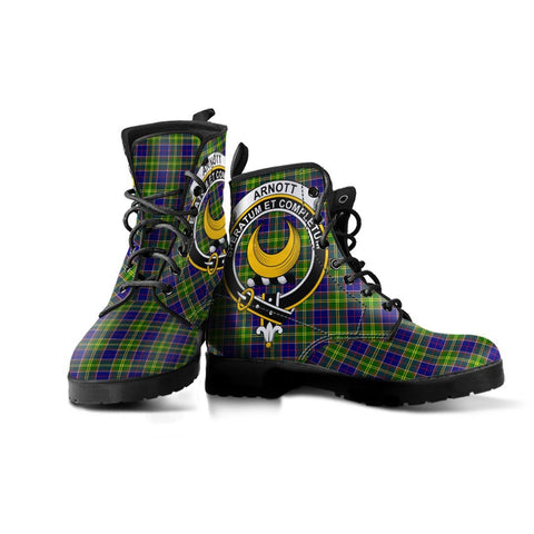 Image of Arnott Clan Badge Tartan Leather Boots
