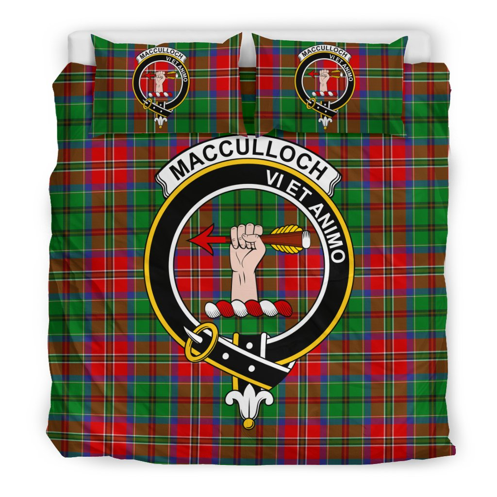 MacCulloch Clan Badge Tartan Bedding Sets