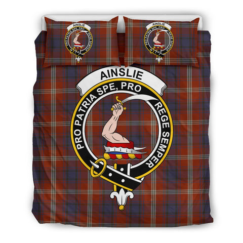 Image of Ainslie Clan Badge Tartan Bedding Sets
