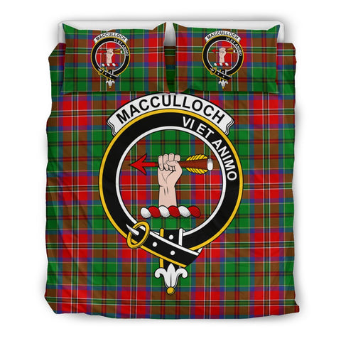 Image of MacCulloch Clan Badge Tartan Bedding Sets