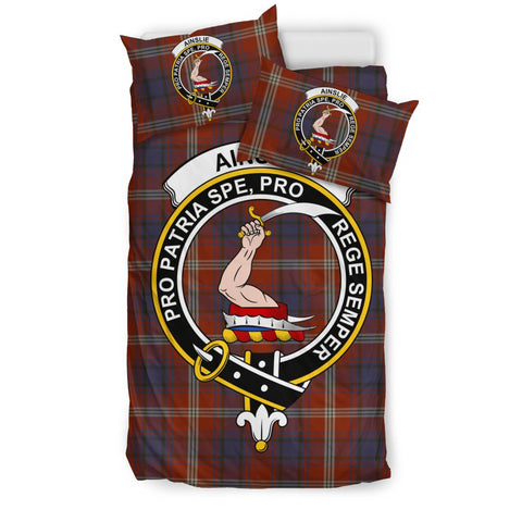 Ainslie Clan Badge Tartan Bedding Sets