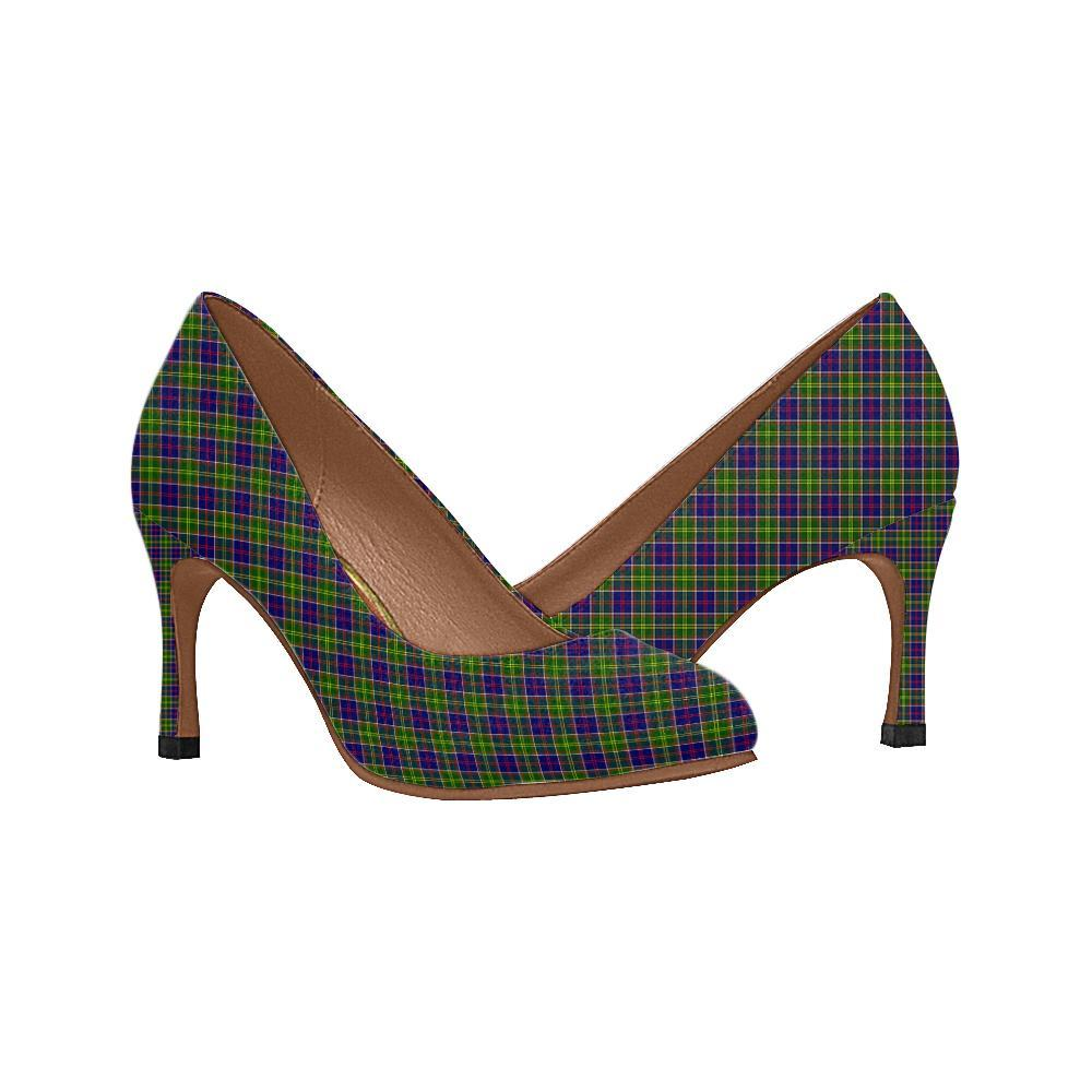 Ayrshire District Tartan Women High Heels