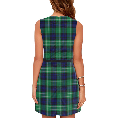 Image of Abercrombie Tartan Sleeveless Dress H01