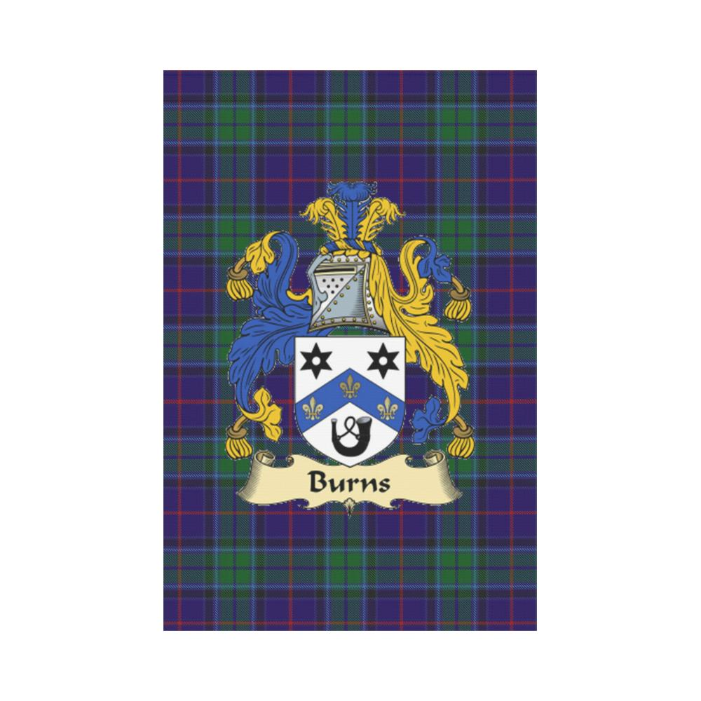 Burns Clan Badge Tartan Garden Flag