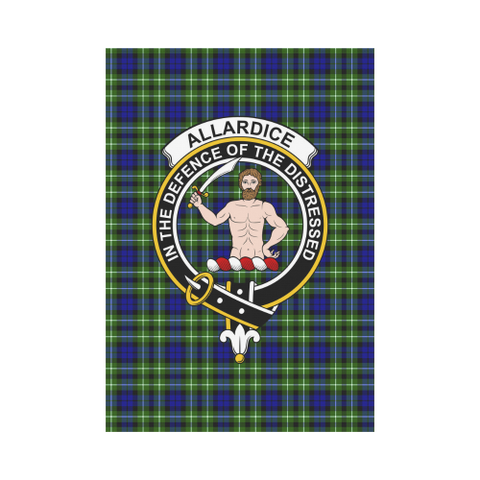 Image of Allardice Clan Badge Tartan Garden Flag