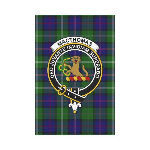 MacThomas  Clan Badge Tartan Garden Flag