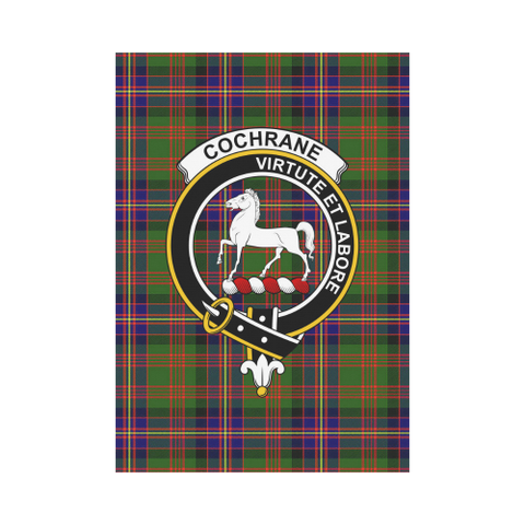 Image of Cochrane Clan Badge Tartan Garden Flag