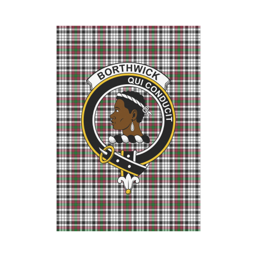 Borthwick Clan Badge Tartan Garden Flag