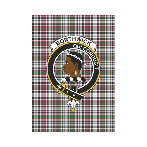 Image of Borthwick Clan Badge Tartan Garden Flag