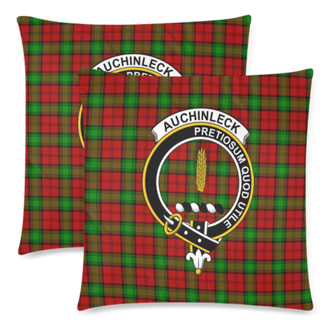 Auchinleck  Clan Badge Tartan Pillow Cover