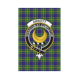 Arnott Clan Badge Tartan Garden Flag