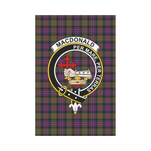 MacDonald Clan Badge Tartan Garden Flag