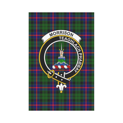 Morrison  Clan Badge Tartan Garden Flag