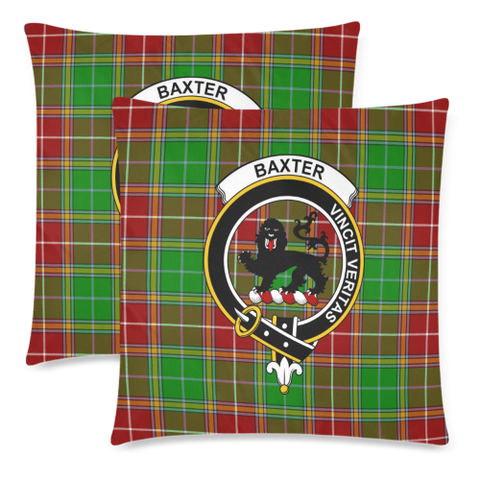 Baxter Clan Badge Tartan Pillow Cover