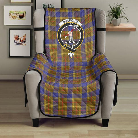 Image of Balfour Modern Clan Badge Tartan Sofa Protector