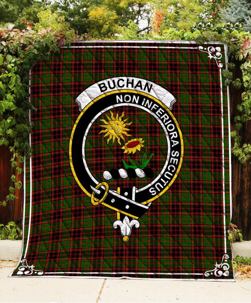Buchan  Clan Badge Tartan Blanket