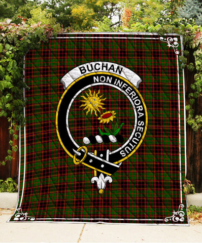 Image of Buchan  Clan Badge Tartan Blanket