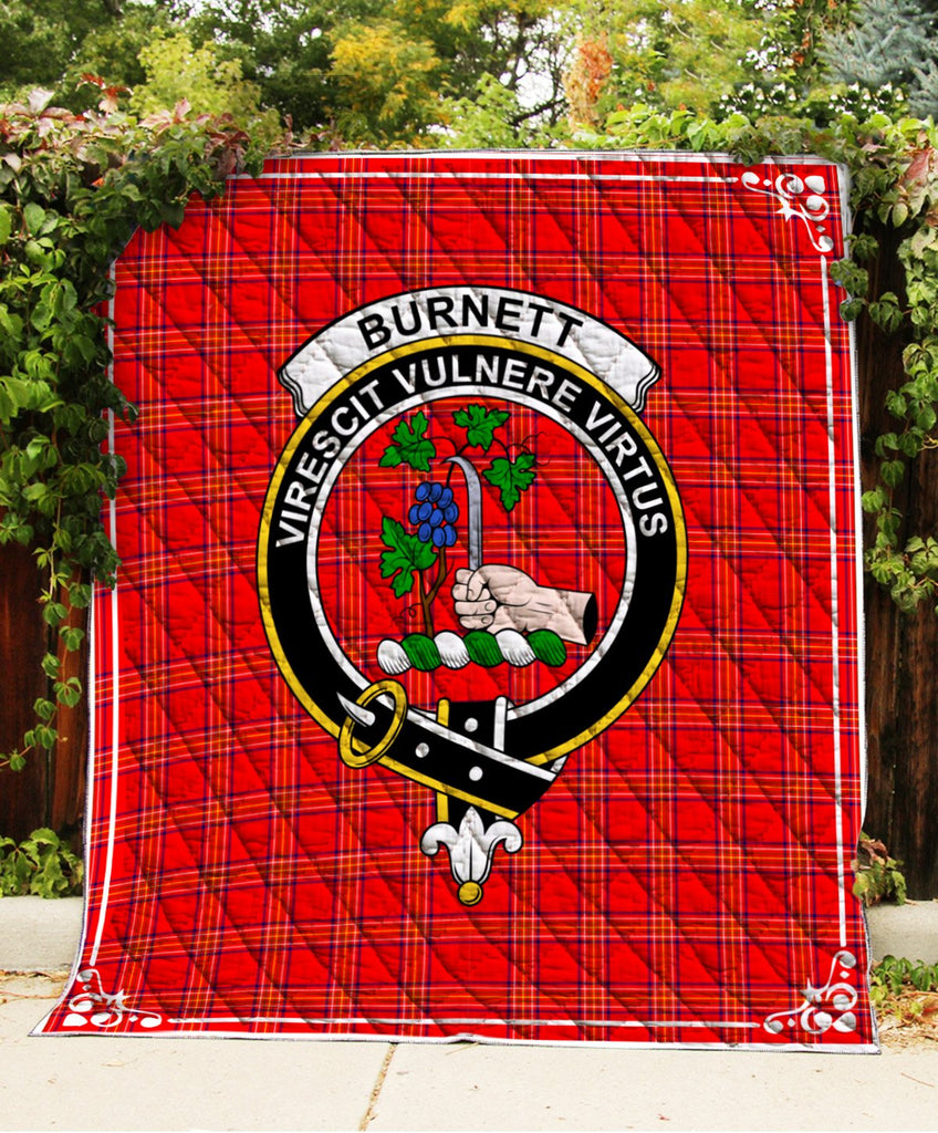 Burnett  Clan Badge Tartan Blanket