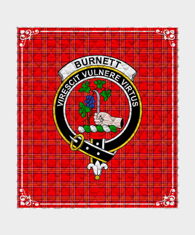 Image of Burnett  Clan Badge Tartan Blanket