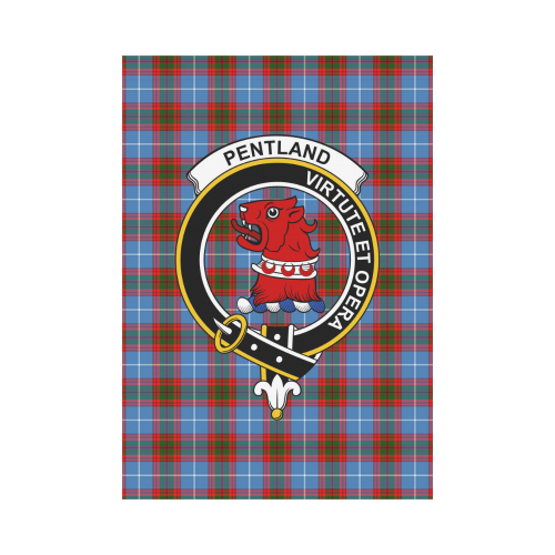 Pentland (Edingburg) Clan Badge Tartan Garden Flag