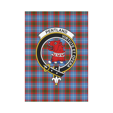 Image of Pentland (Edingburg) Clan Badge Tartan Garden Flag