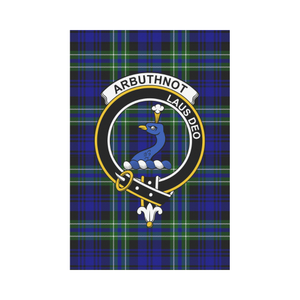 Arbuthnot Clan Badge Tartan Garden Flag