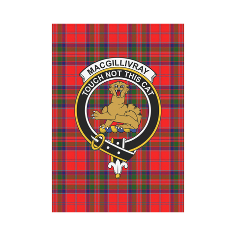 Image of MacGillivray  Clan Badge Tartan Garden Flag
