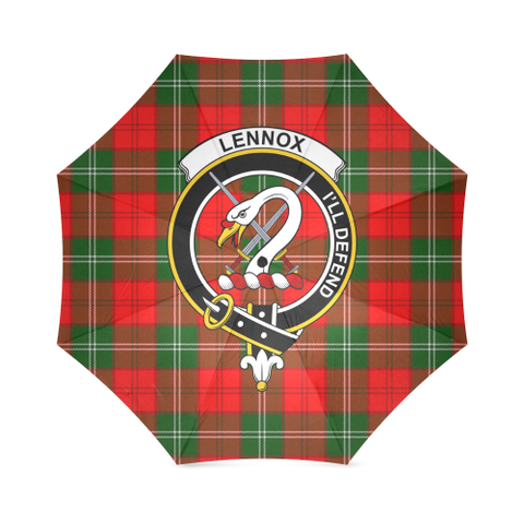 Image of Lennox Clan Badge Tartan Umbrella