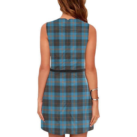 Image of Angus Ancient Tartan Sleeveless Dress H01